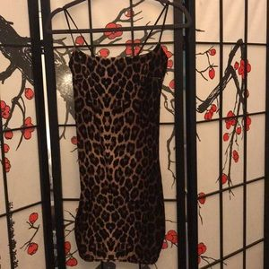 Nasty gal velvet leopard dress